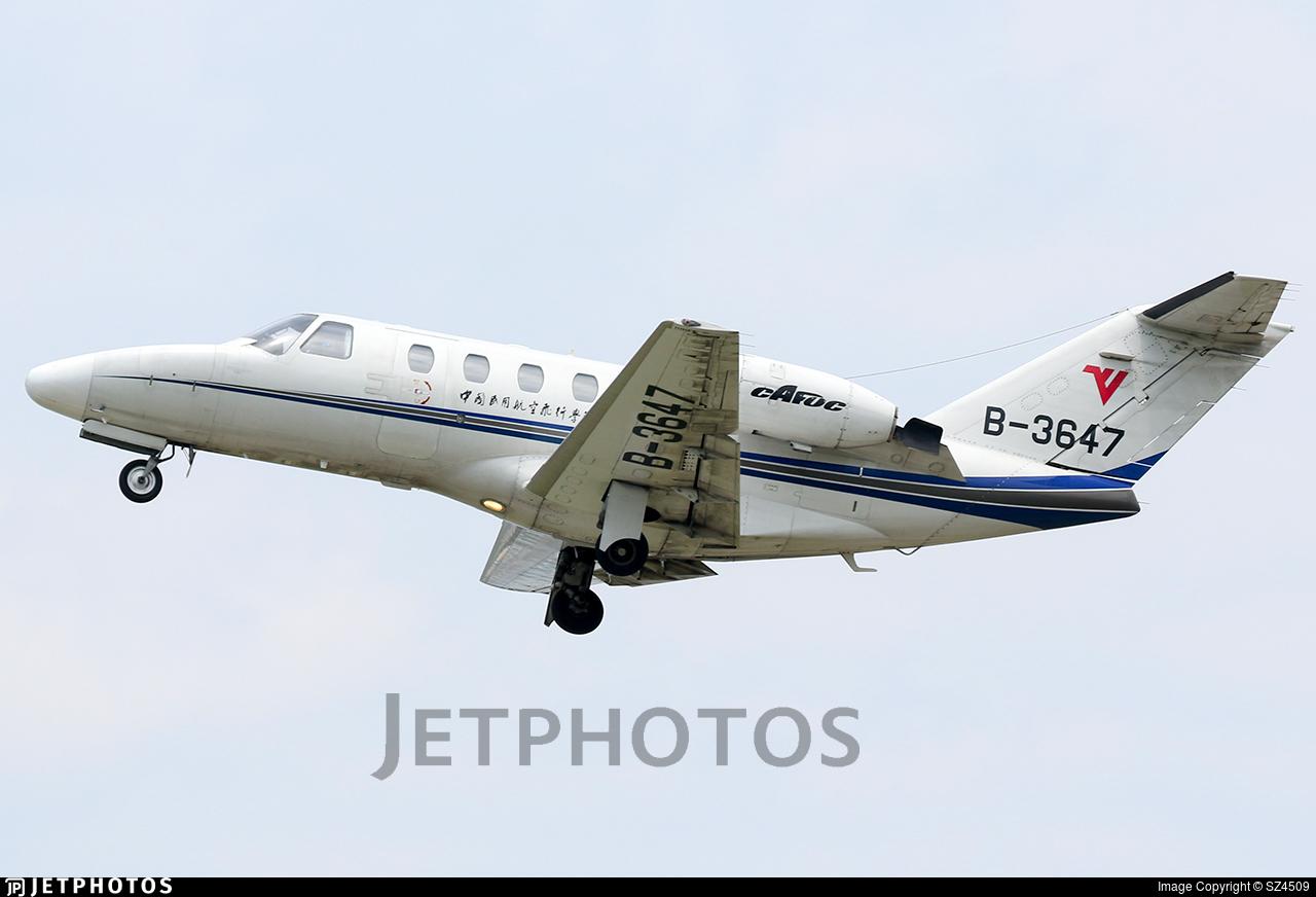 B-3647 - Cessna 525 Citationjet CJ1 - Civil Aviation Flight University of China
