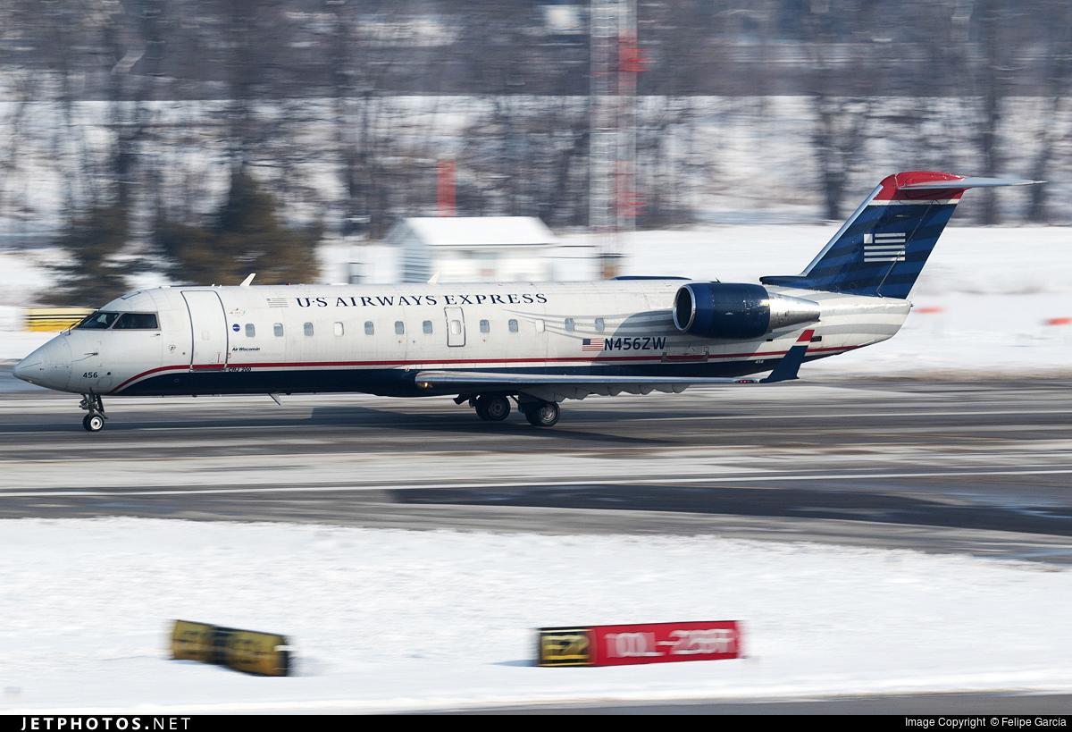 N456ZW - Bombardier CRJ-200LR - US Airways Express (Air Wisconsin)