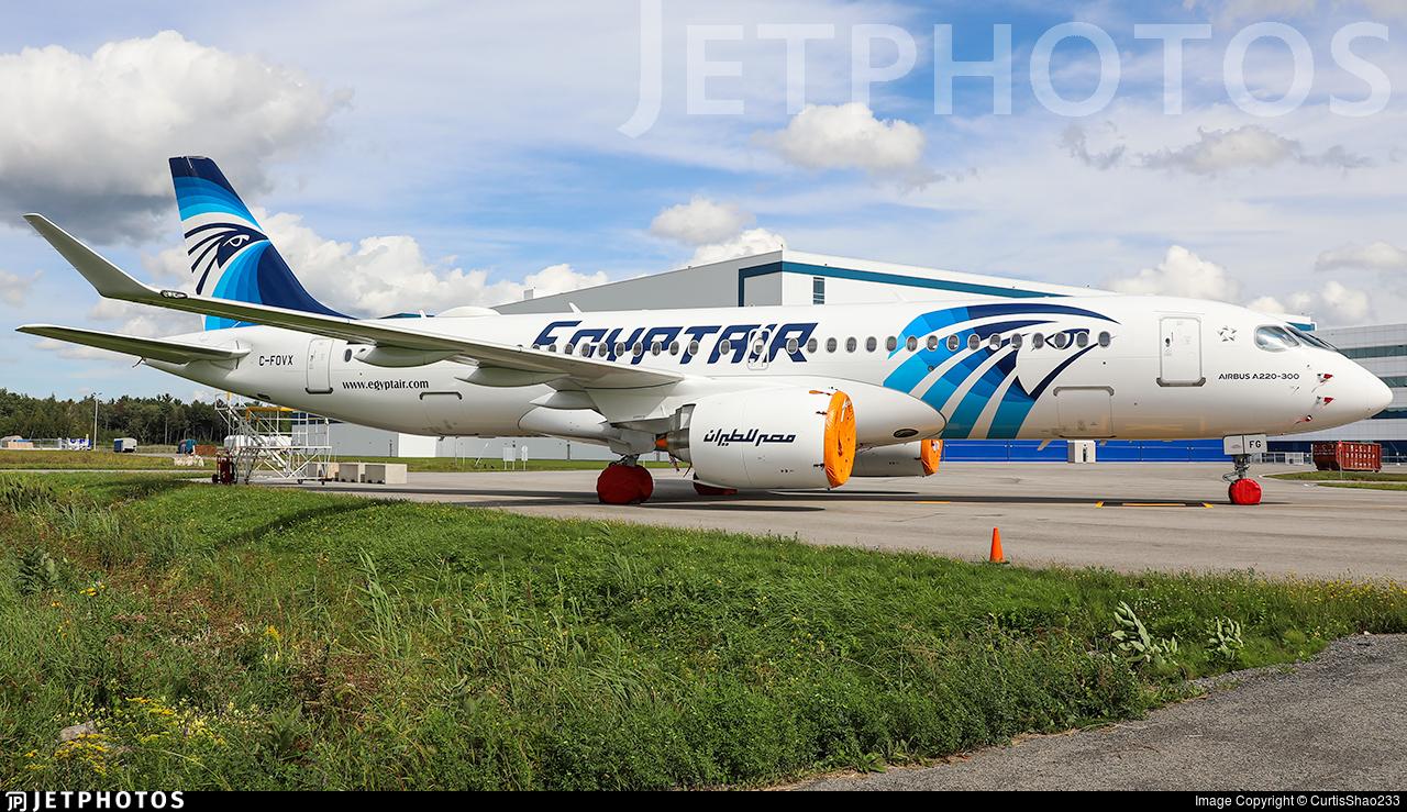 C-FOVX - Airbus A220-371 - EgyptAir