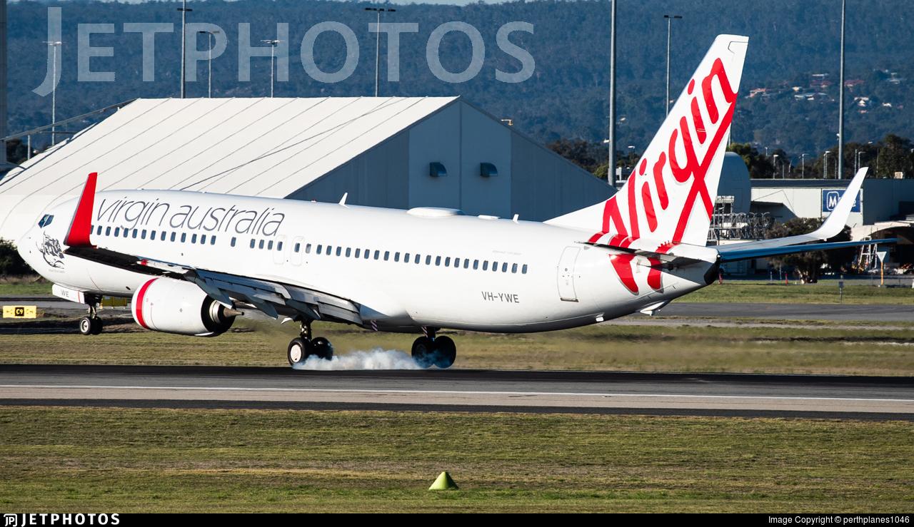 VH-YWE - Boeing 737-8FE - Virgin Australia Airlines