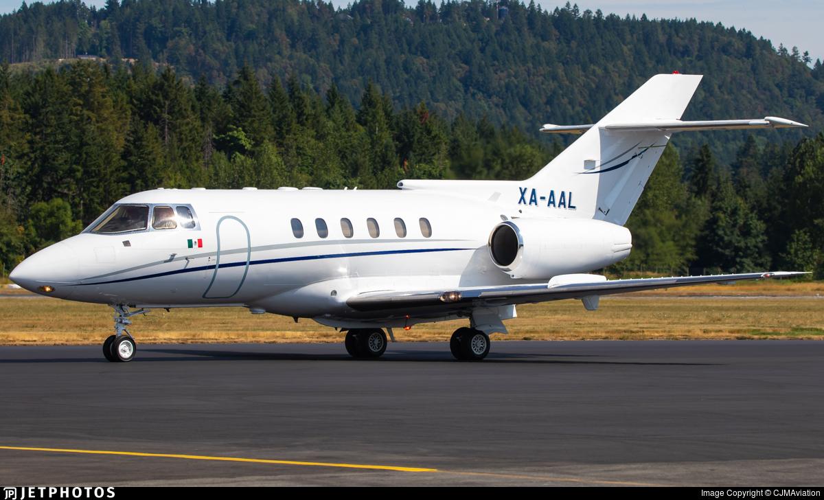XA-AAL - British Aerospace BAe 125-800A - Private