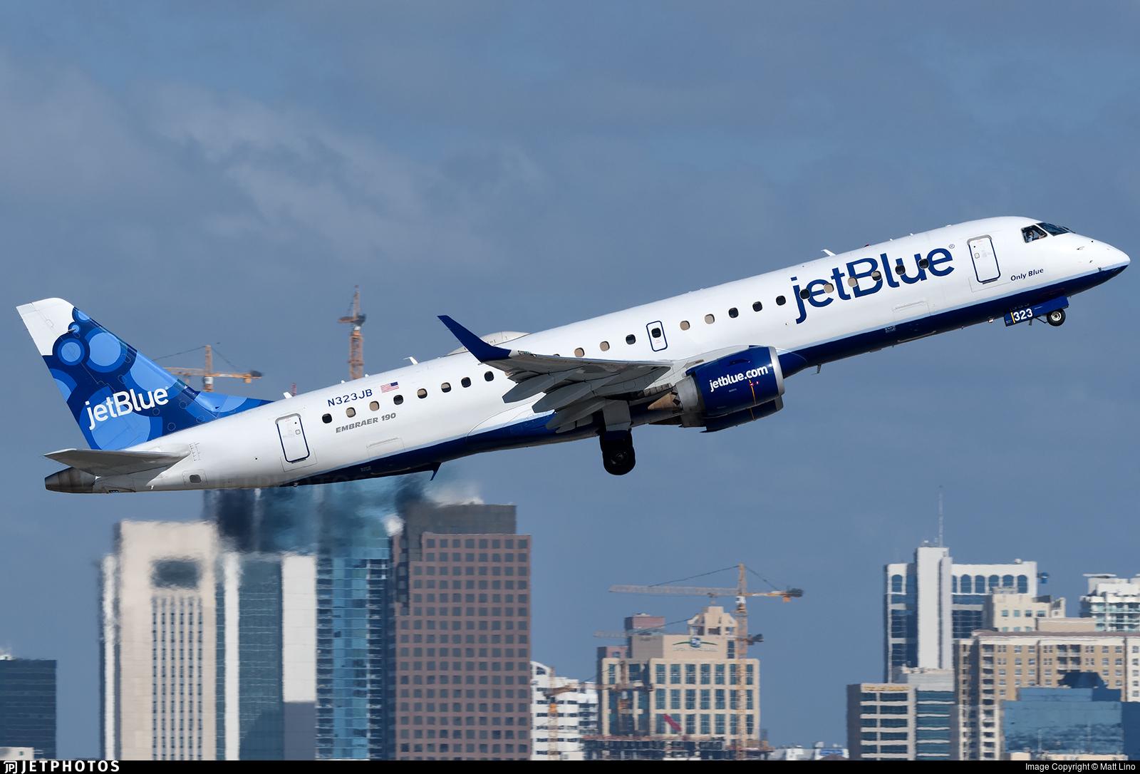 N323JB - Embraer 190-100IGW - jetBlue Airways