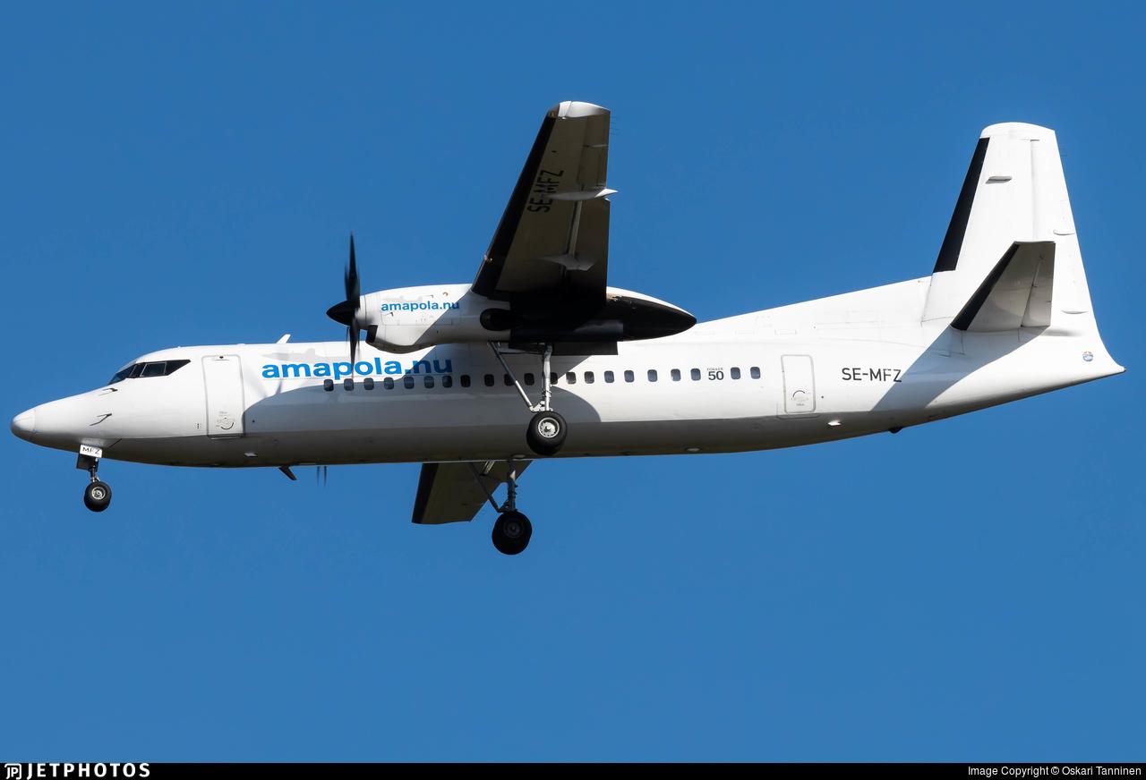 SE-MFZ - Fokker 50 - Amapola Flyg