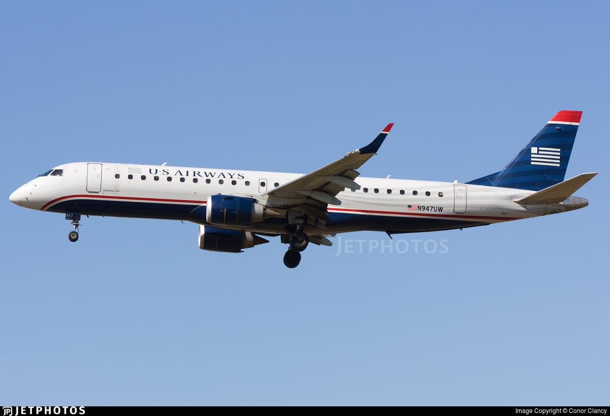 N947UW - Embraer 190-100IGW - US Airways