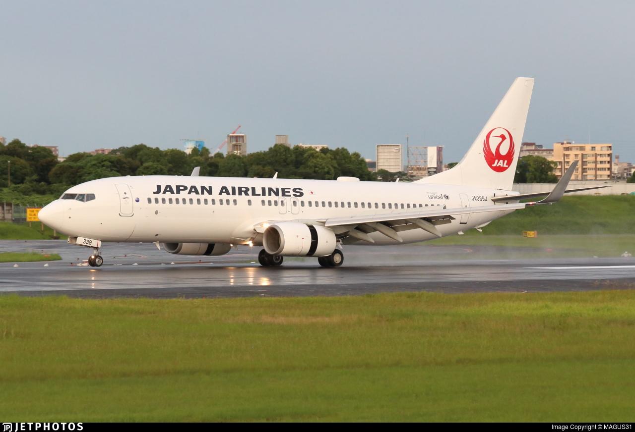 JA339J - Boeing 737-846 - Japan Airlines (JAL)