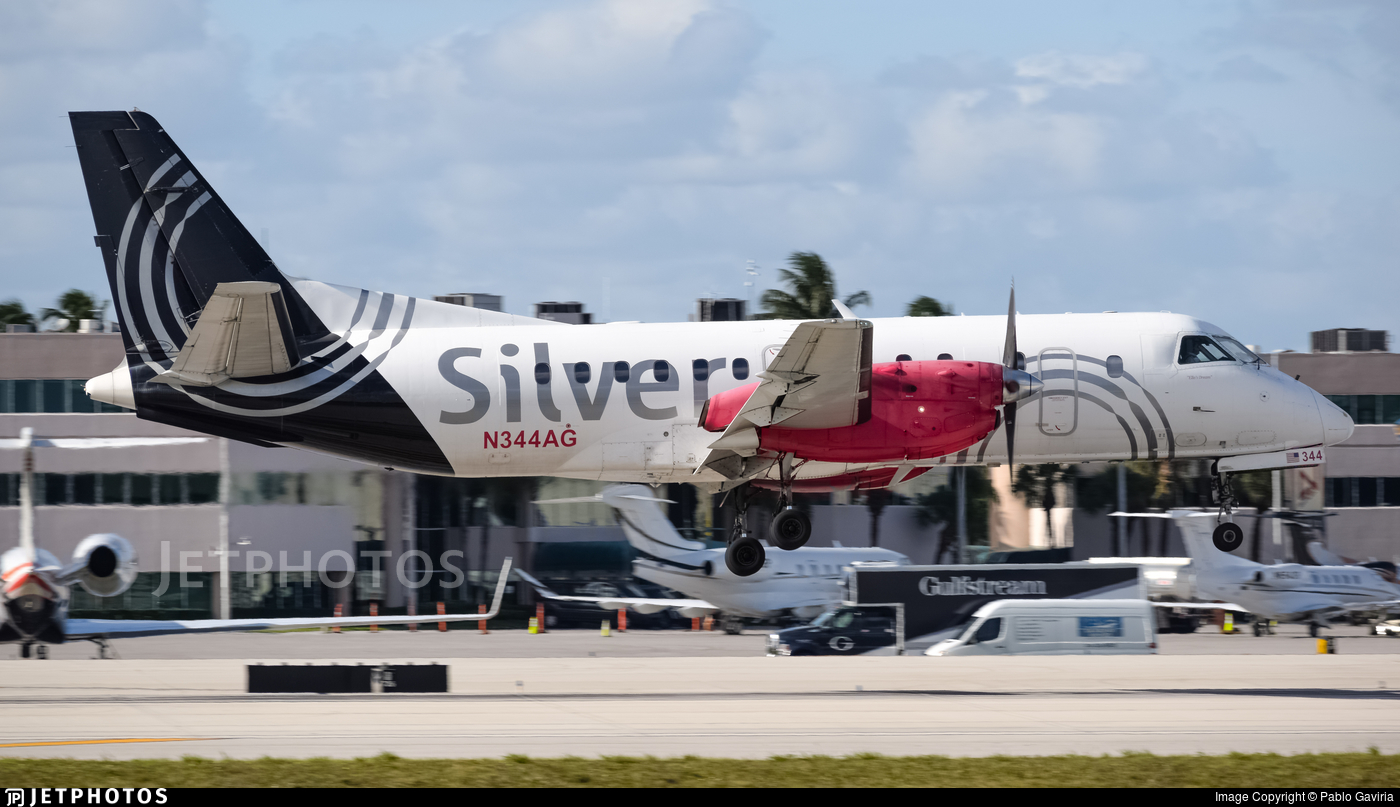 N344AG - Saab 340B - Silver Airways