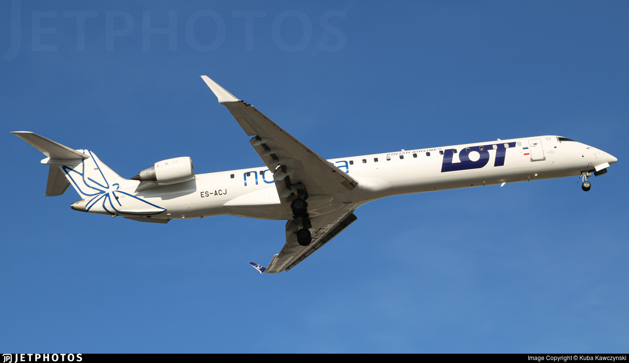 ES-ACJ - Bombardier CRJ-900LR - LOT Polish Airlines (Nordica)