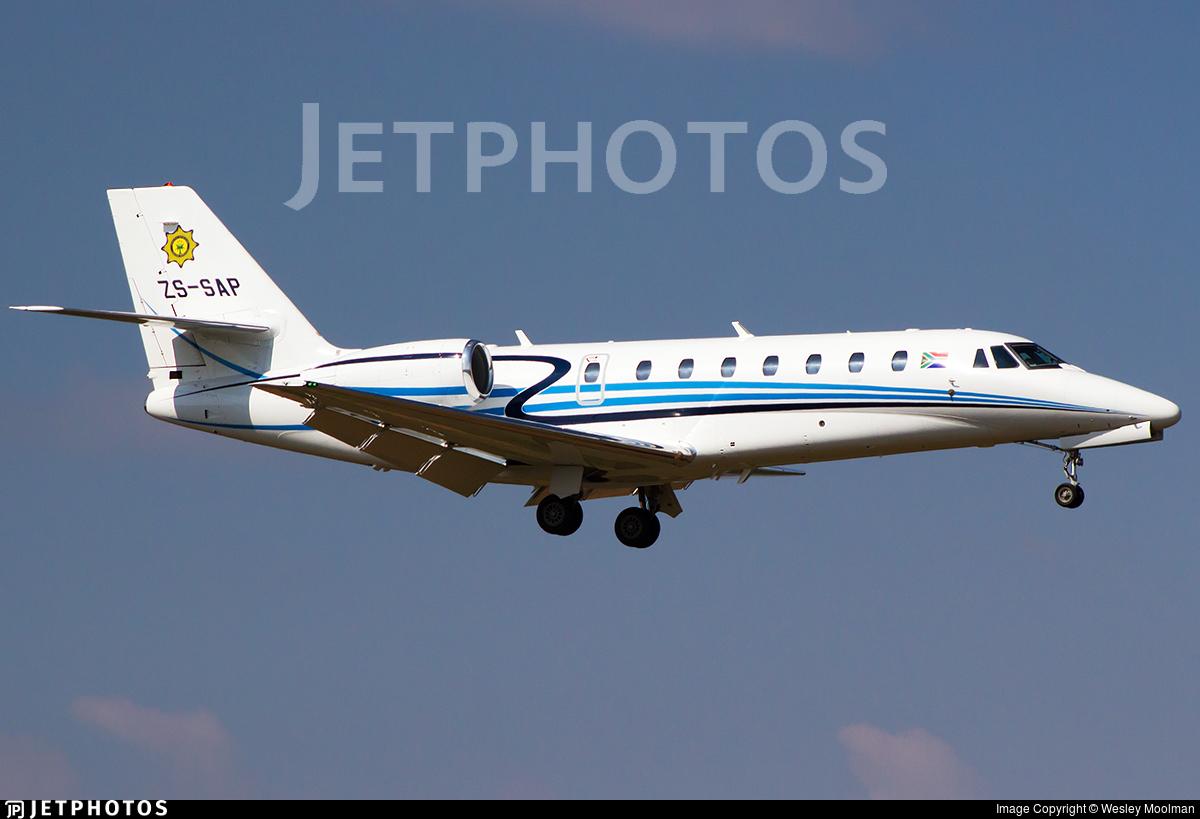 ZS-SAP - Cessna 680 Citation Sovereign - South Africa - Police
