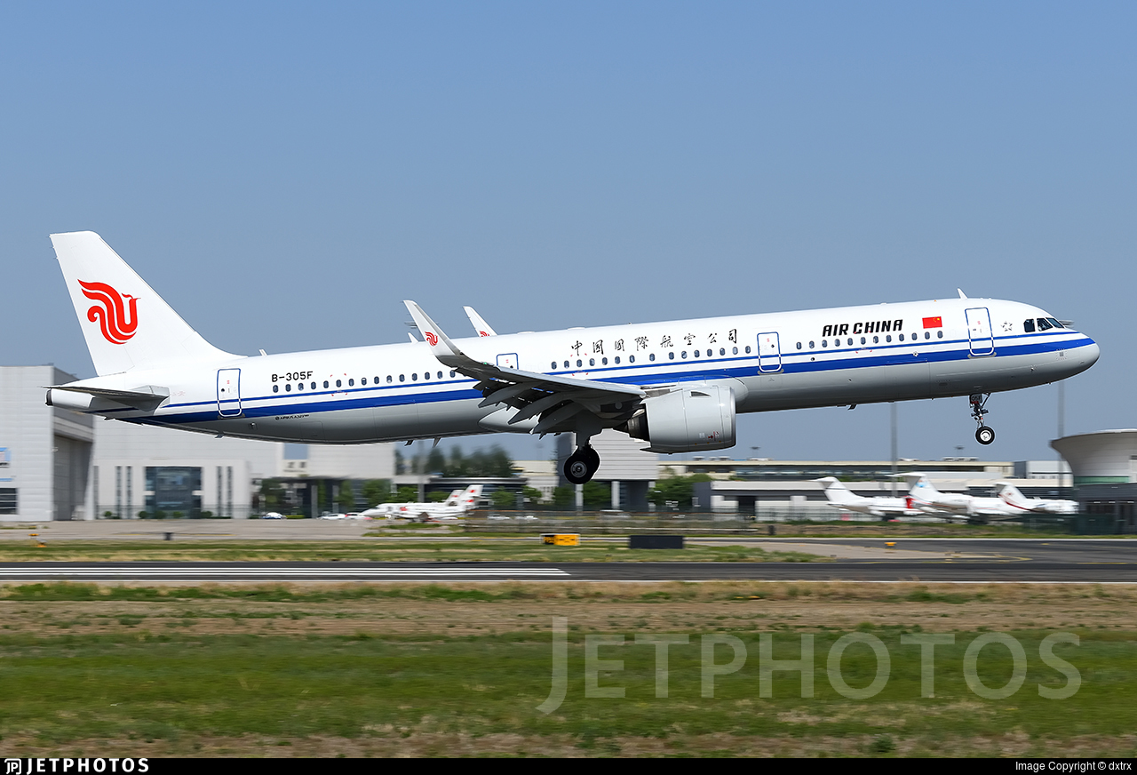 B-305F - Airbus A321-271N - Air China
