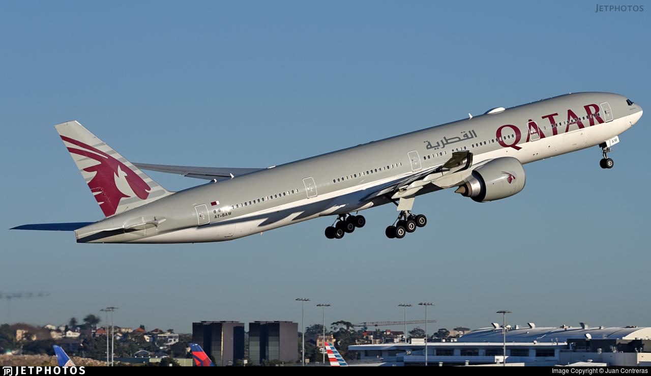 A7-BAW - Boeing 777-3DZER - Qatar Airways
