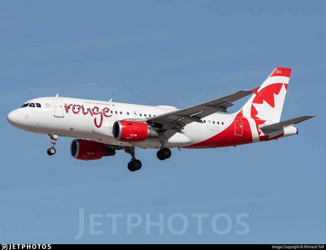 C-GBIM - Airbus A319-114 - Air Canada Rouge