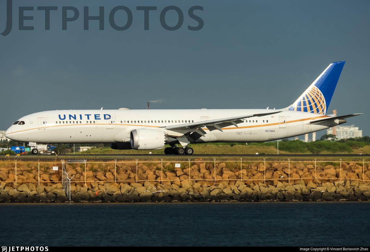N27964 - Boeing 787-9 Dreamliner - United Airlines