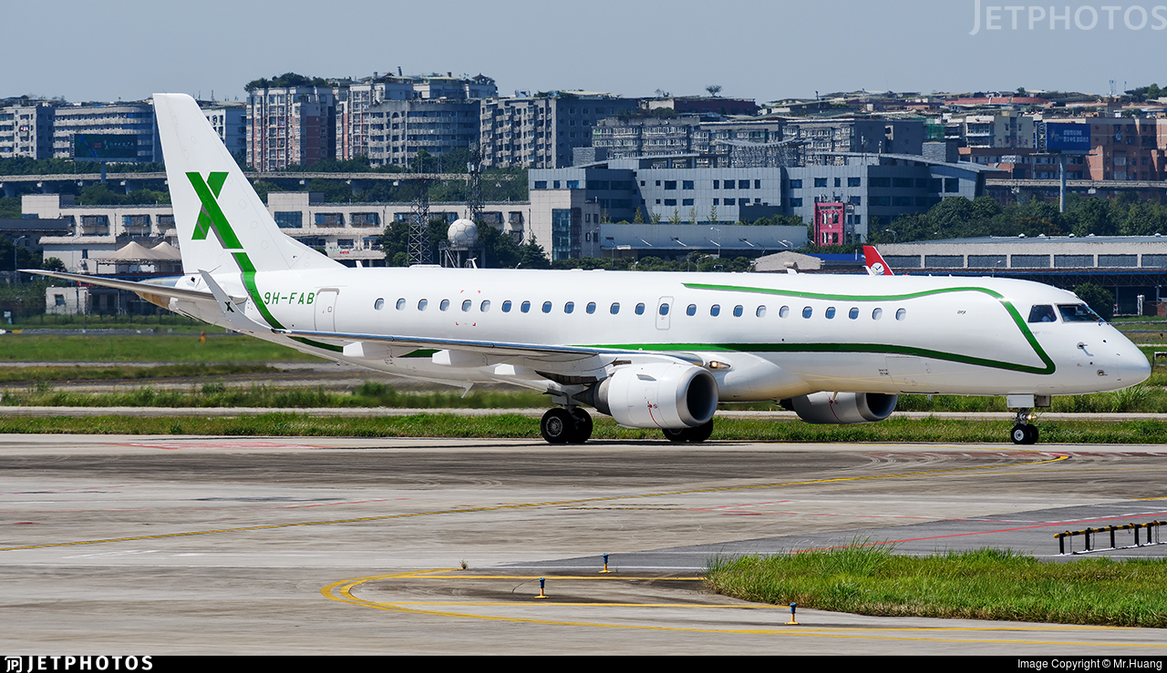 9H-FAB - Embraer 190 Lineage 1000 - Air X Charter