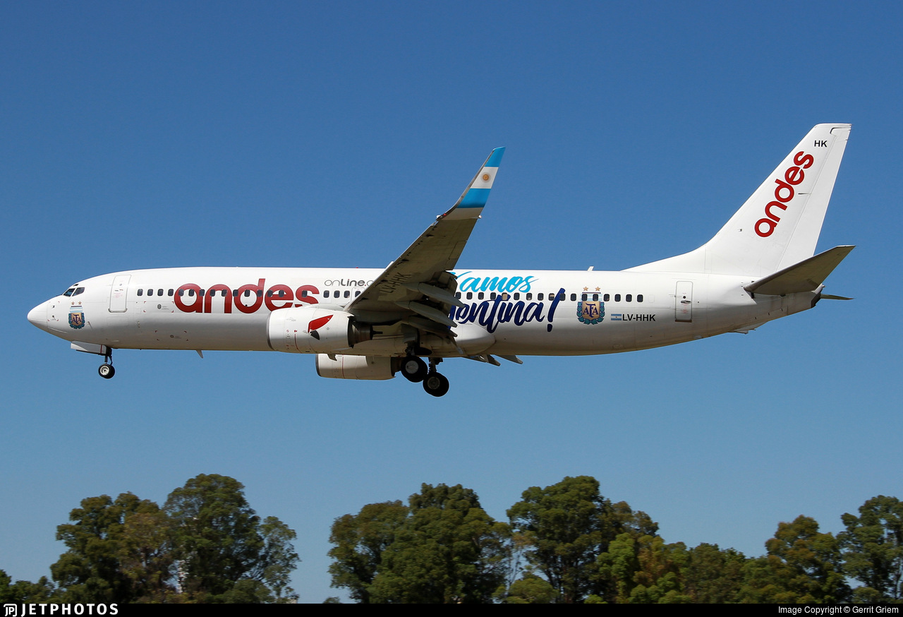 LV-HHK - Boeing 737-85F - Andes Líneas Aéreas