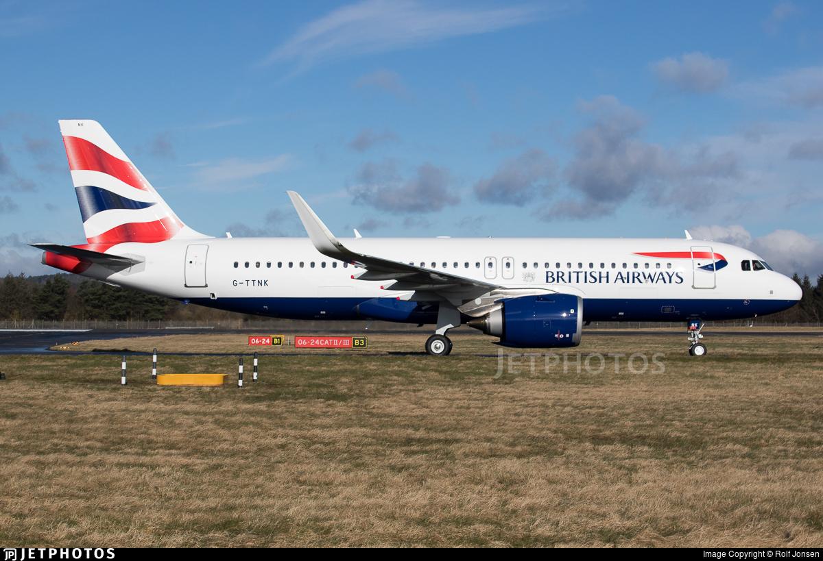 G-TTNK - Airbus A320-251N - British Airways