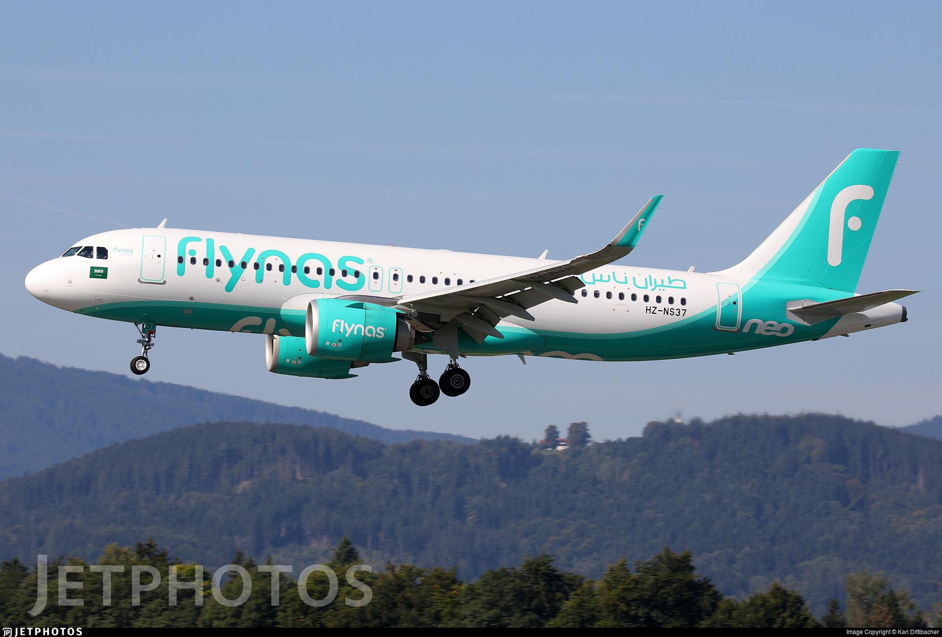 HZ-NS37 - Airbus A320-251N - Flynas