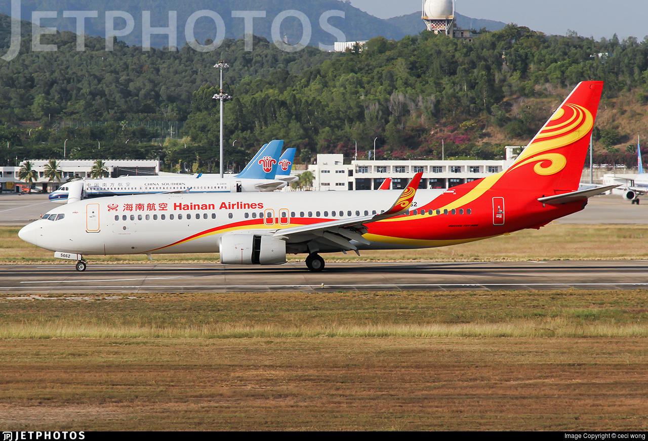 B-5662 - Boeing 737-84P - Hainan Airlines