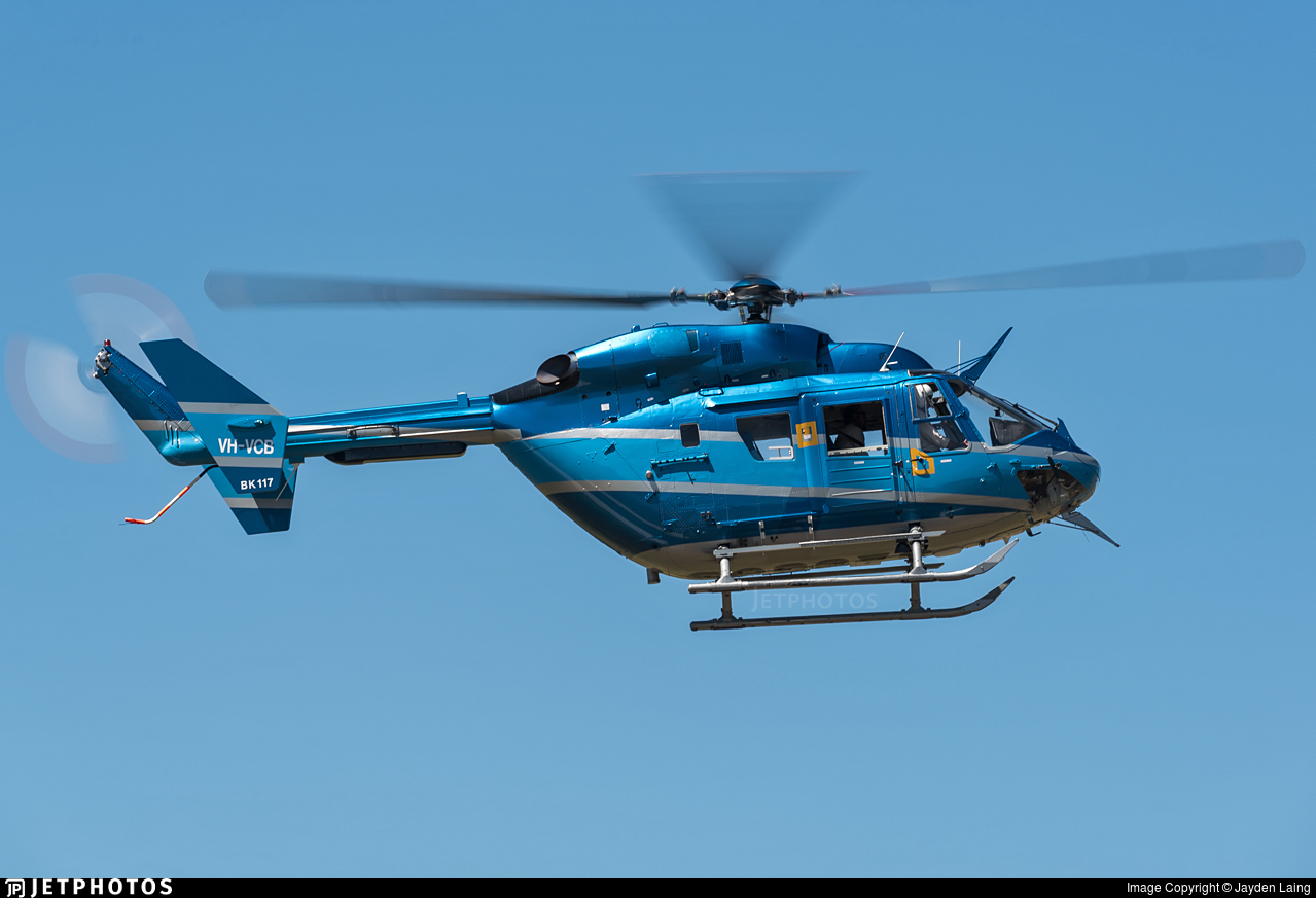 VH-VCB - MBB-Kawasaki BK117B-2 - Orange Helicopters