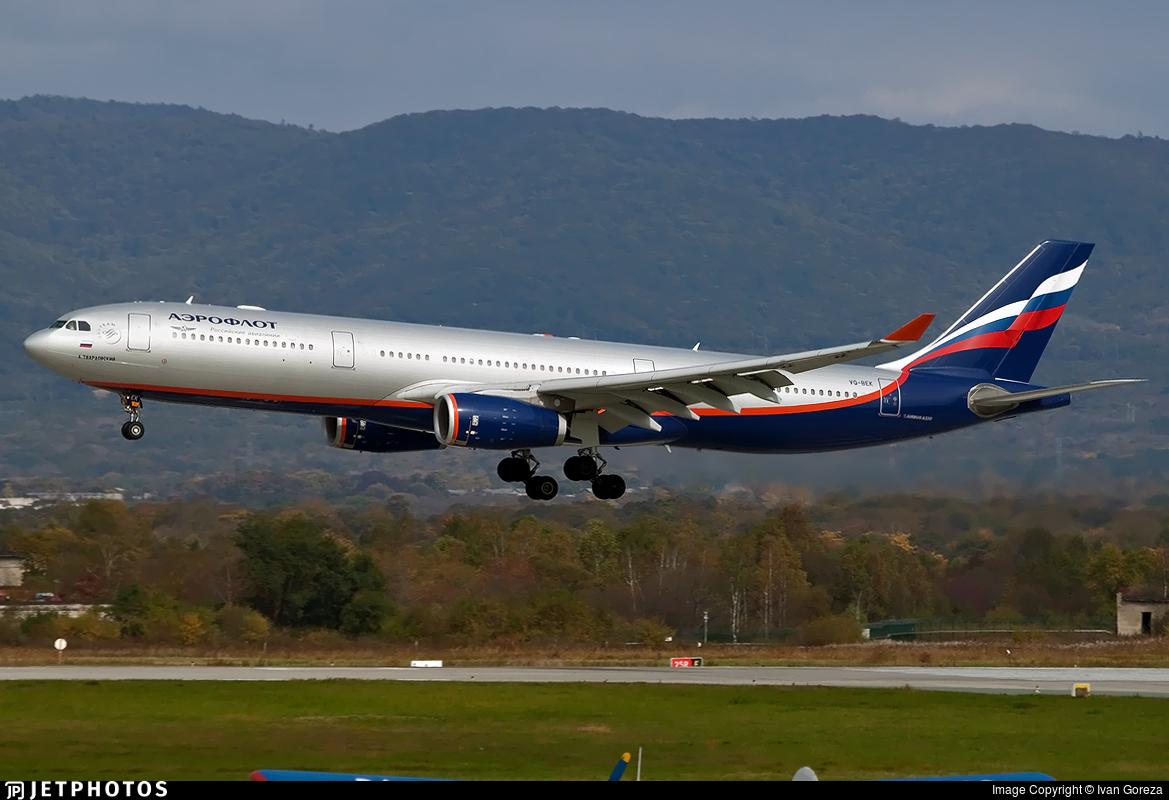 VQ-BEK - Airbus A330-343 - Aeroflot