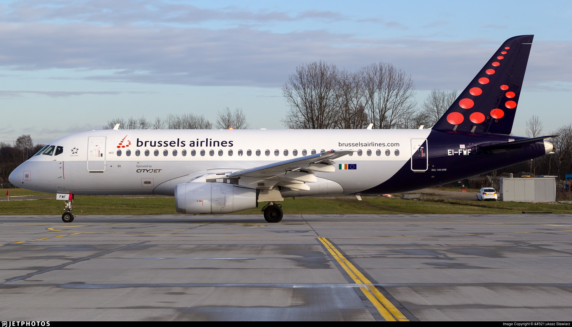 EI-FWF | Sukhoi Superjet 100-95B | Brussels Airlines (CityJet