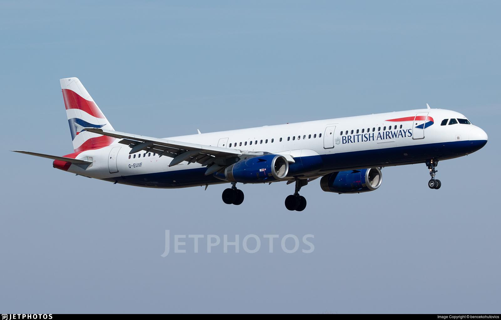 G-EUXF - Airbus A321-231 - British Airways