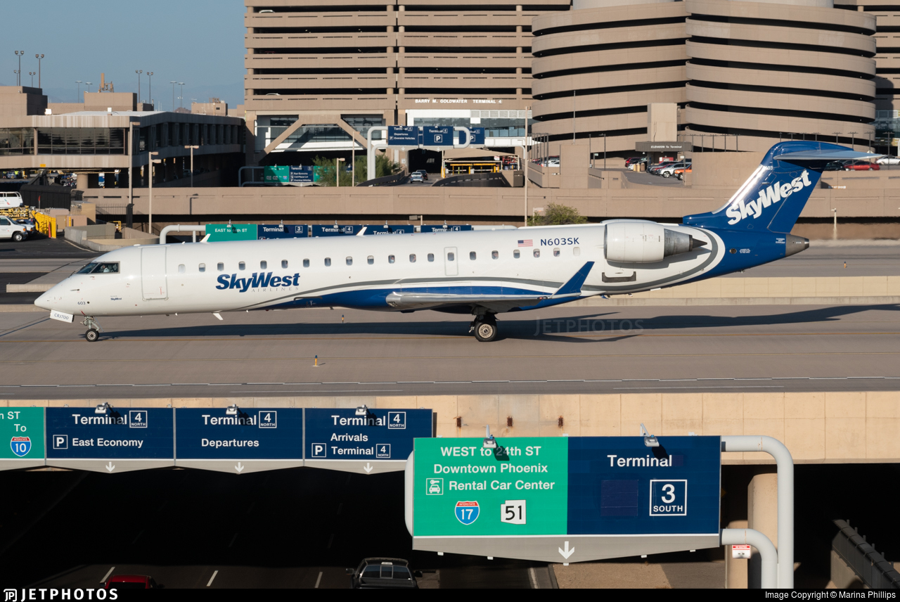 N603SK - Bombardier CRJ-701ER - Delta Connection (SkyWest Airlines)