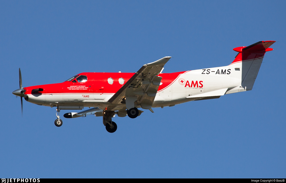 ZS-AMS - Pilatus PC-12 - Air Mercy Services