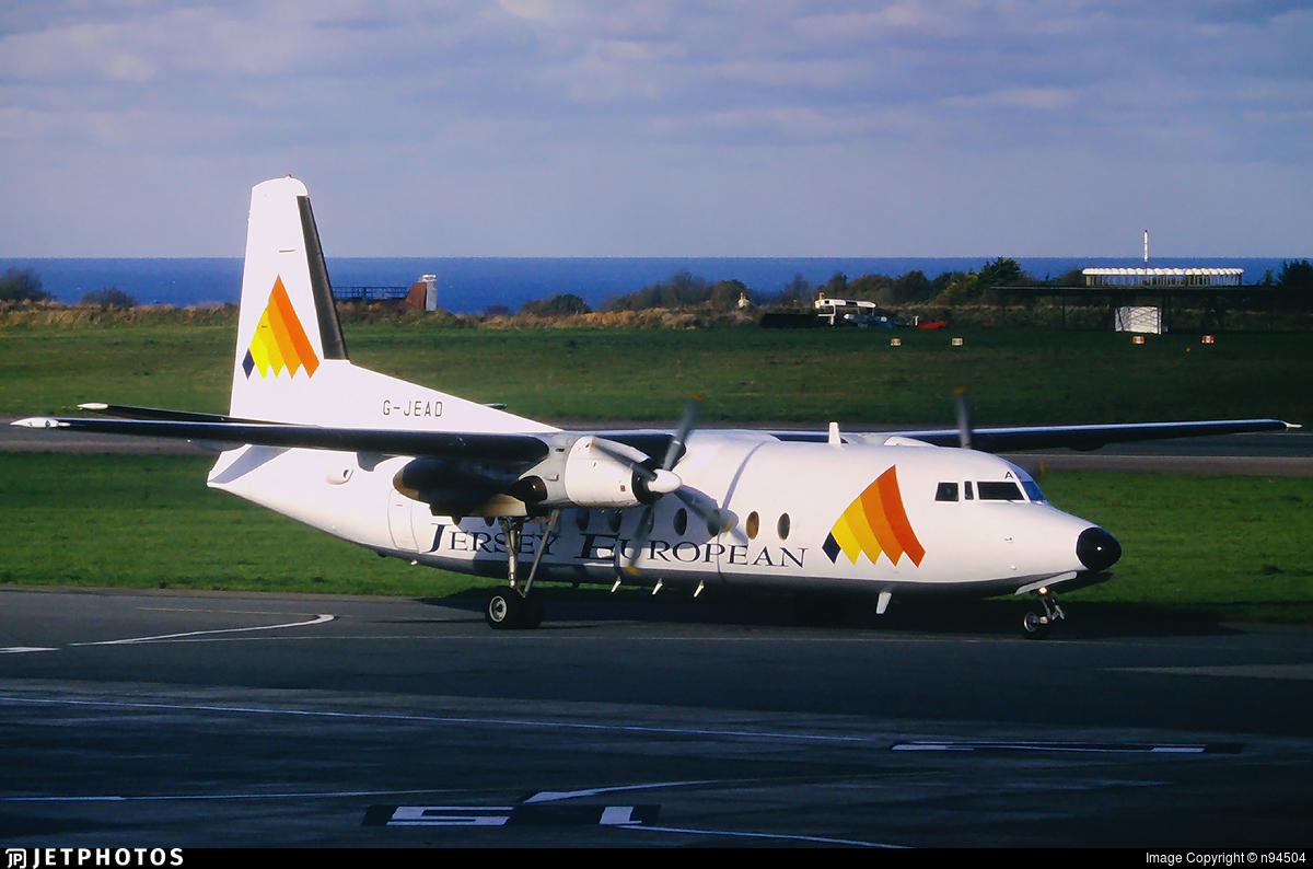 G-JEAD - Fokker F27-500 Friendship - Jersey European Airways