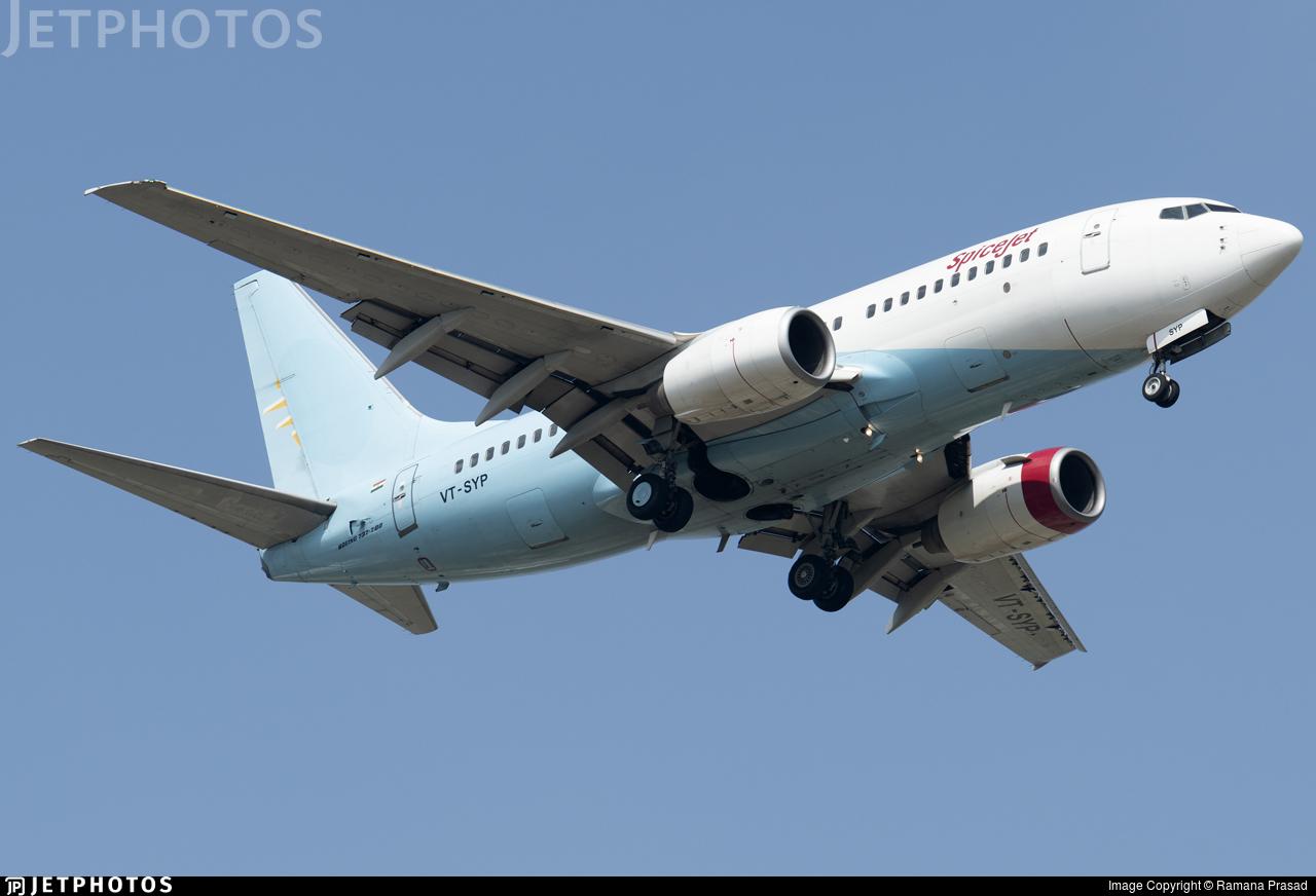 VT-SYP - Boeing 737-7BK - SpiceJet