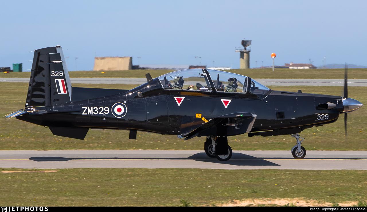ZM329 - Raytheon T-6C Texan T1 - United Kingdom - Royal Air Force (RAF)