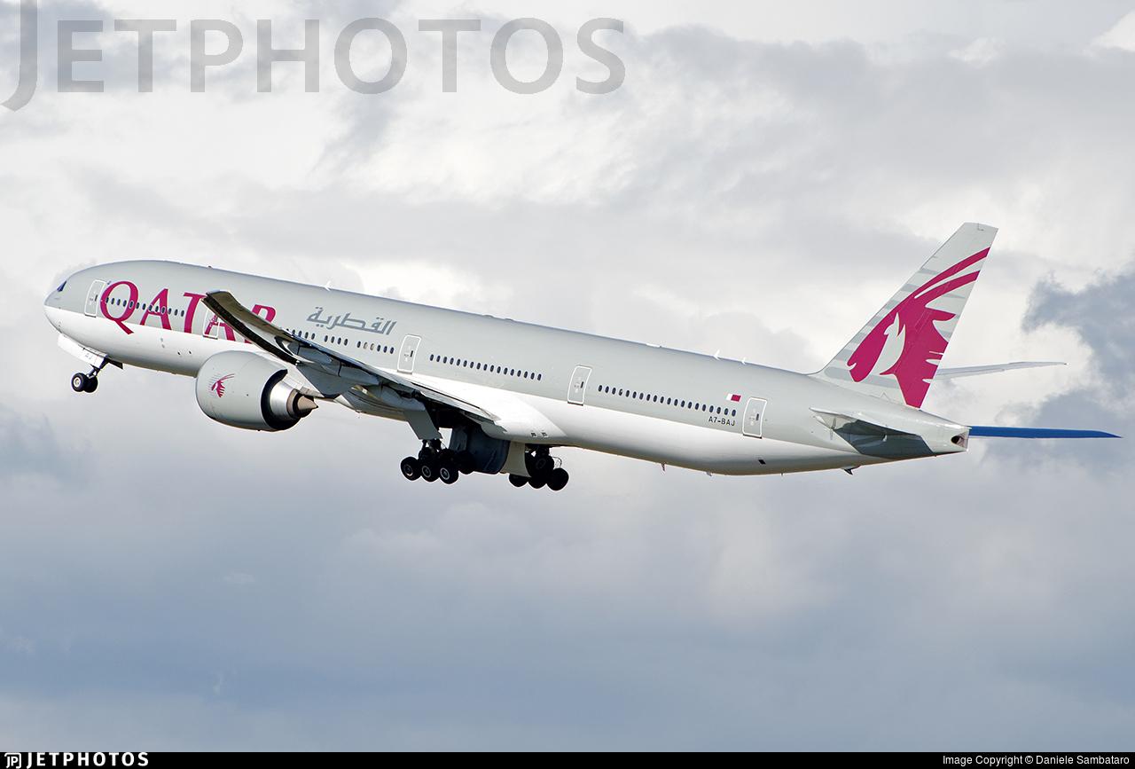 A7-BAJ - Boeing 777-3DZER - Qatar Airways