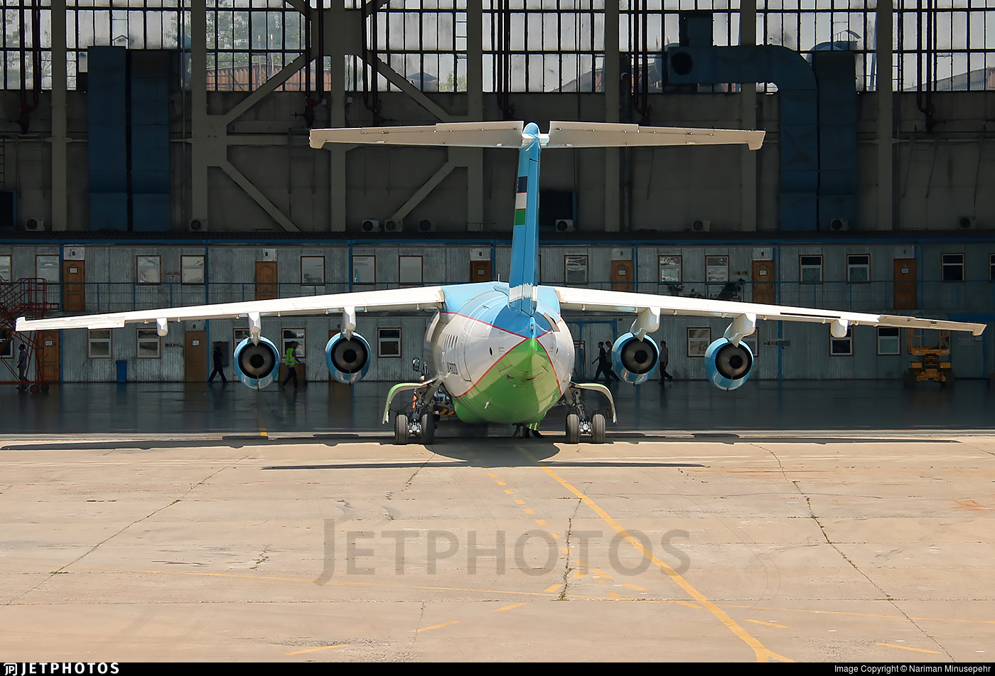 UK80001 - British Aerospace Avro RJ85 - Uzbekistan - Government