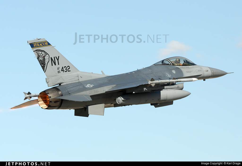 85-1432 - General Dynamics F-16C Fighting Falcon - United States - US Air Force (USAF)