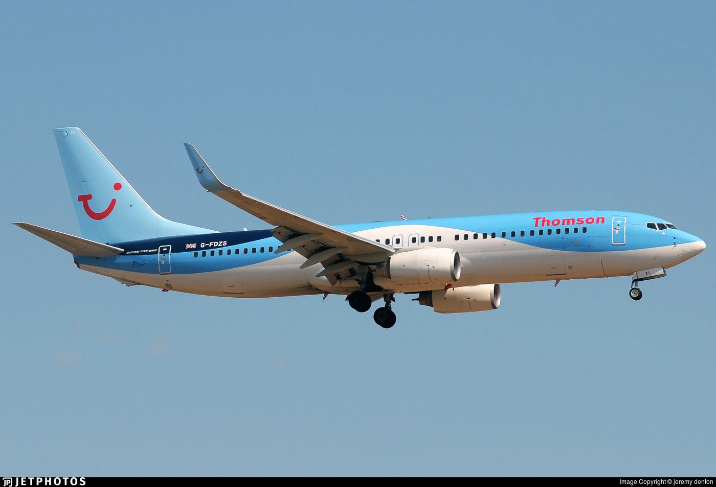 G-FDZS - Boeing 737-8K5 - Thomson Airways