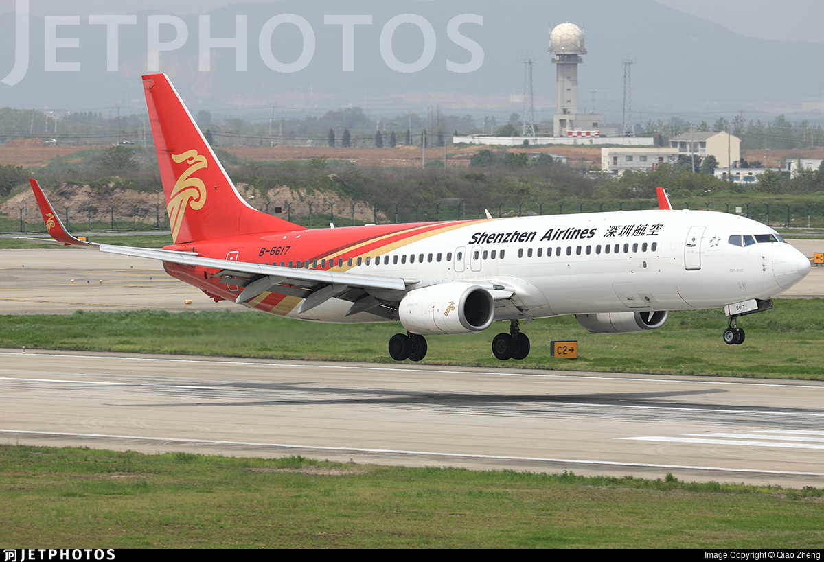 B-5617 - Boeing 737-87L - Shenzhen Airlines