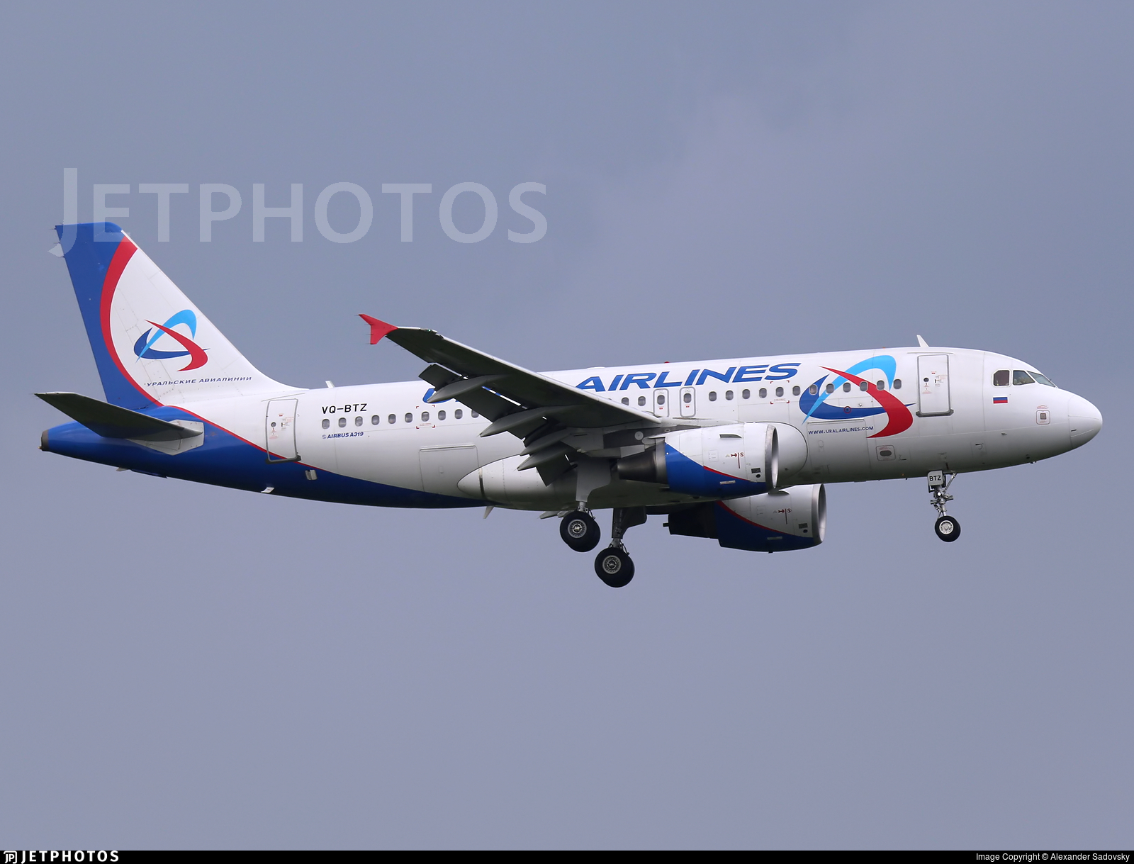 VQ-BTZ - Airbus A319-112 - Ural Airlines