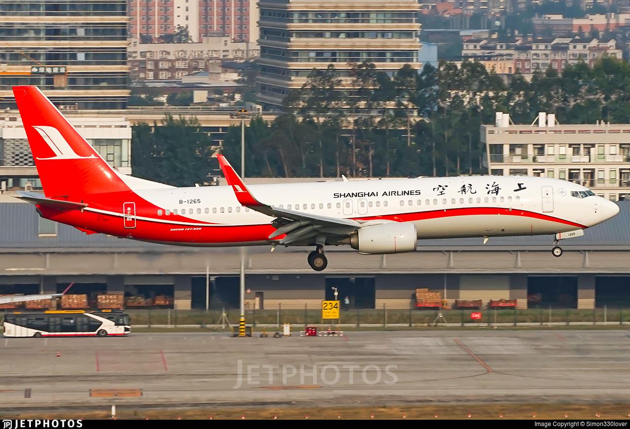B-1265 - Boeing 737-89P - Shanghai Airlines