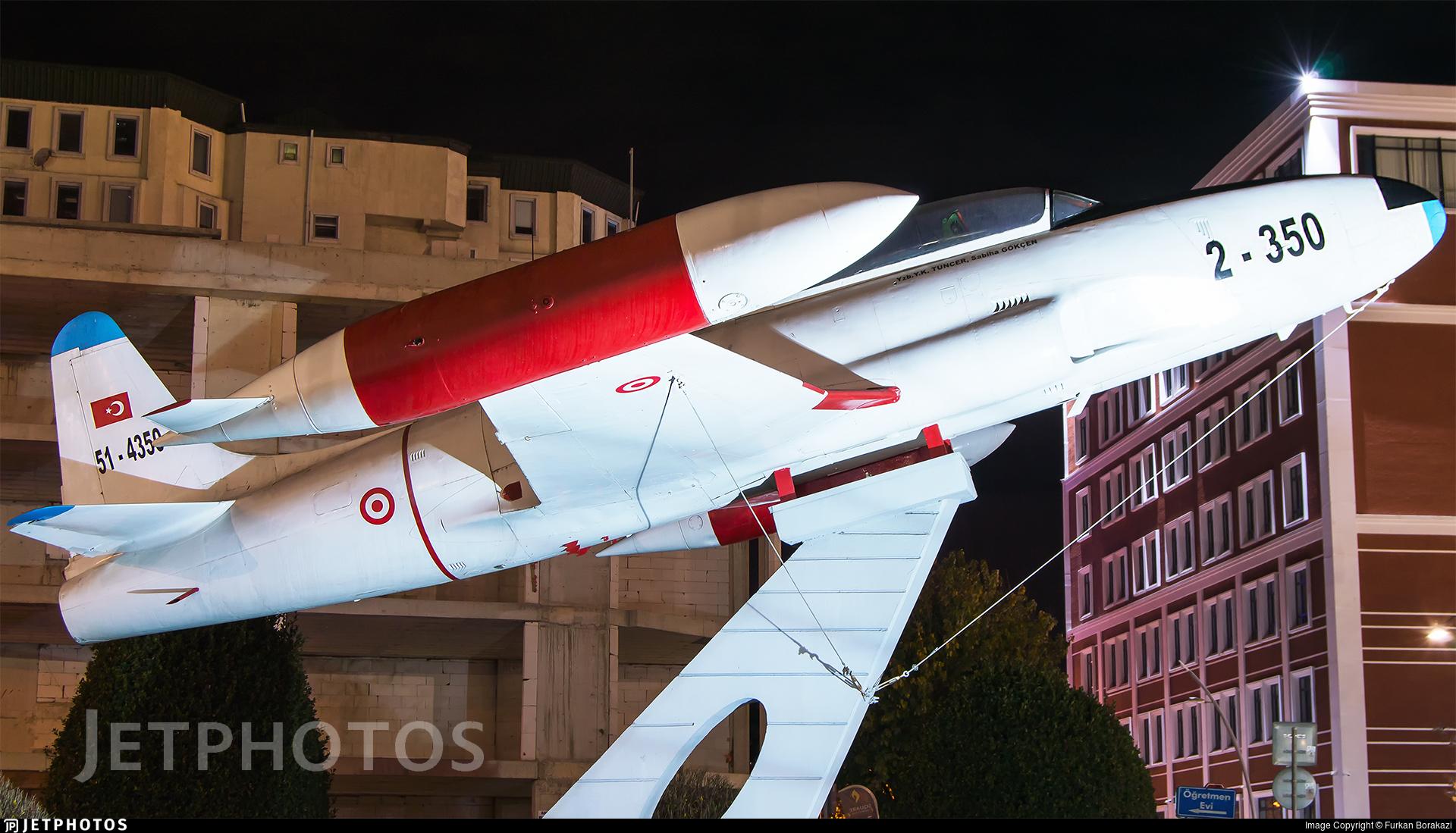 51-4350 - Lockheed T-33A Shooting Star - Turkey - Air Force