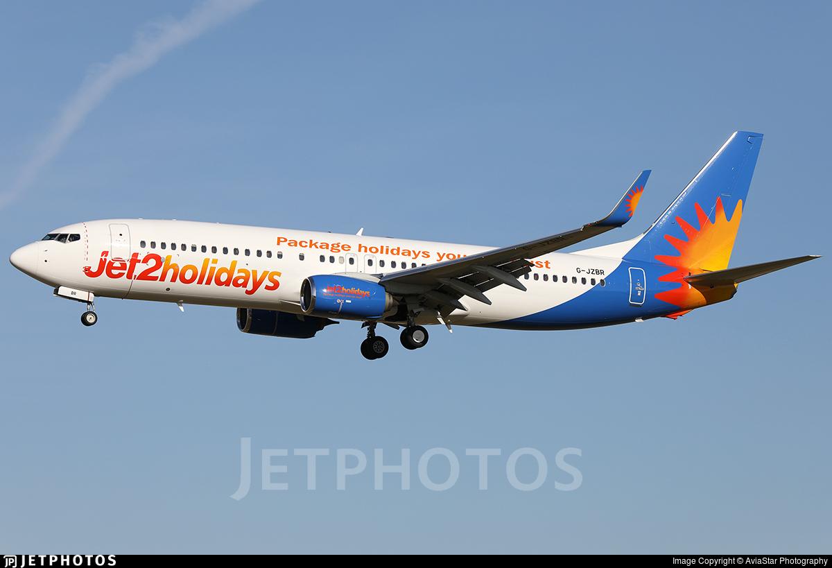 G-JZBR - Boeing 737-8MG - Jet2.com