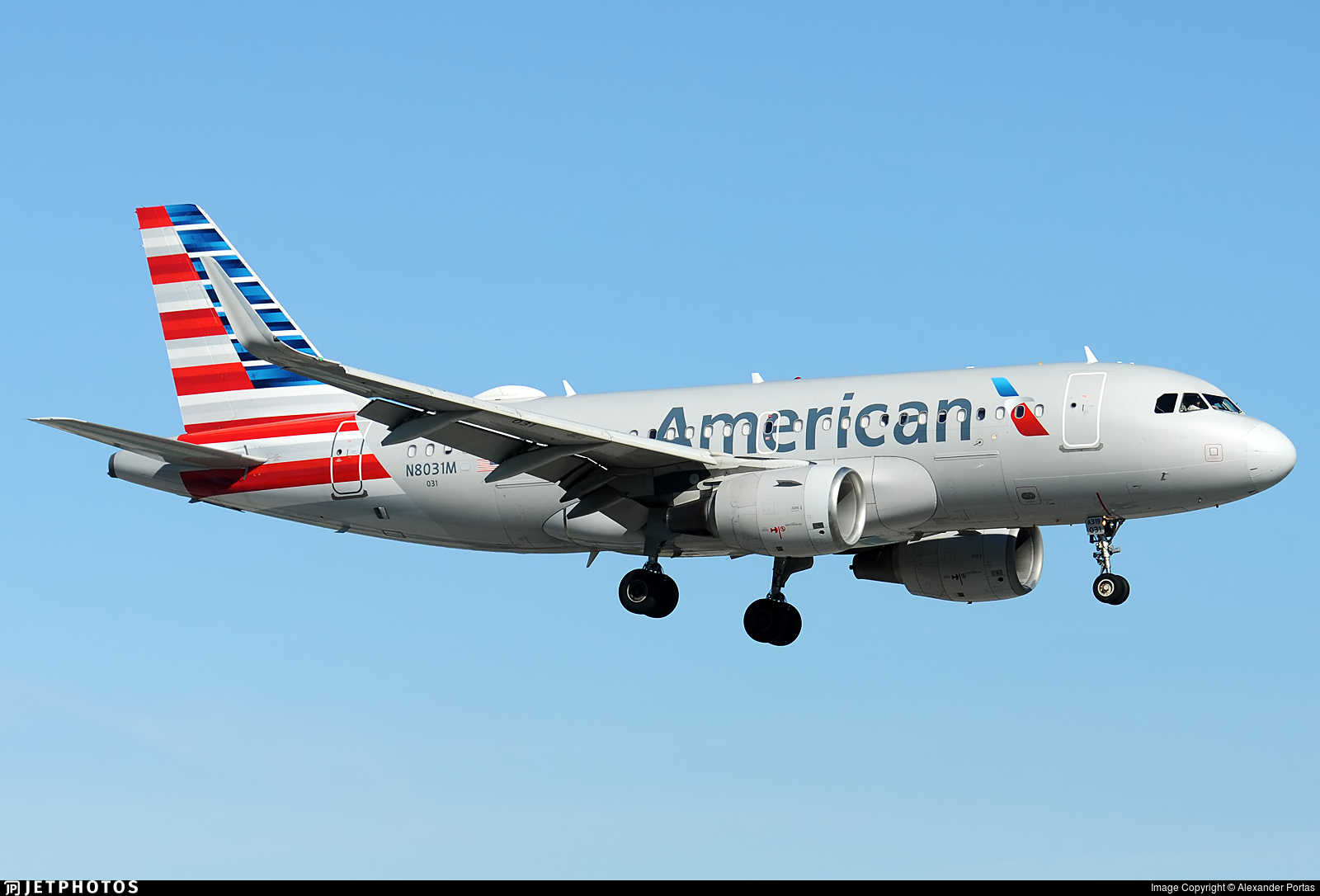 N8031M - Airbus A319-115 - American Airlines