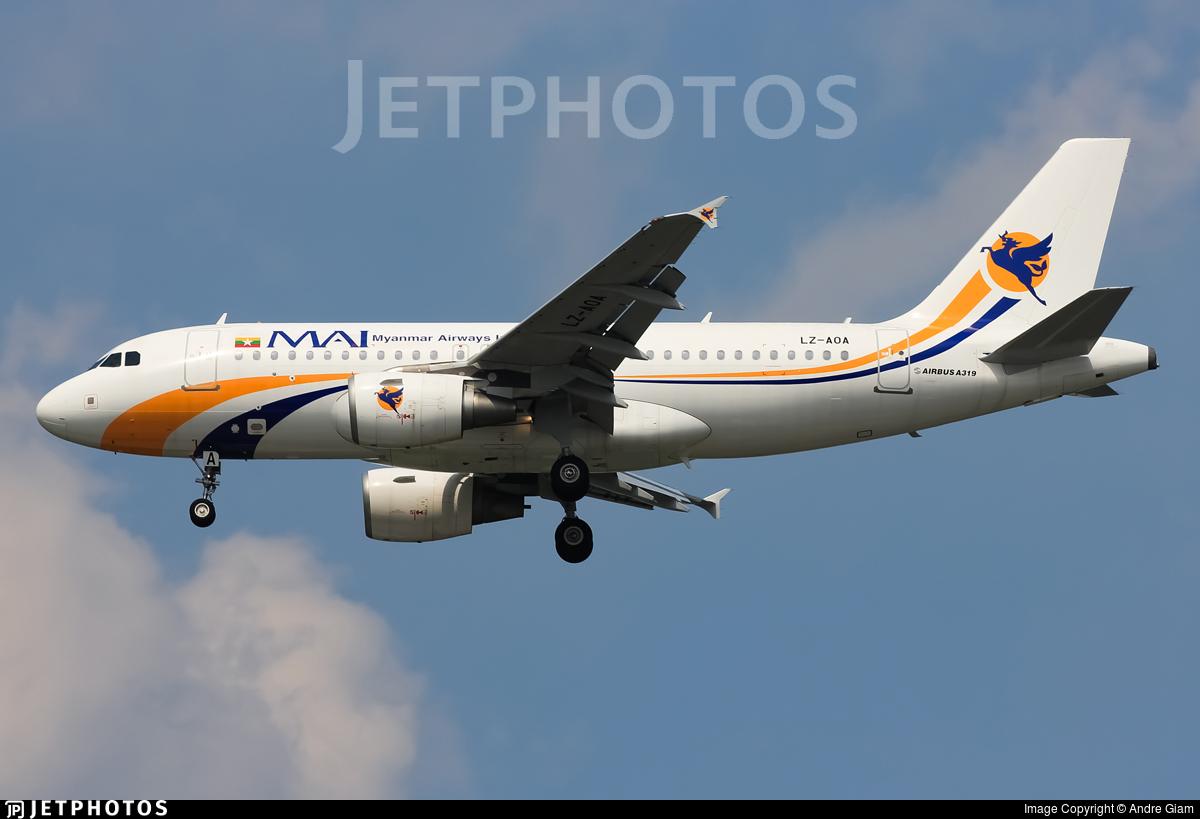 LZ-AOA - Airbus A319-111 - Myanmar Airways International (MAI)