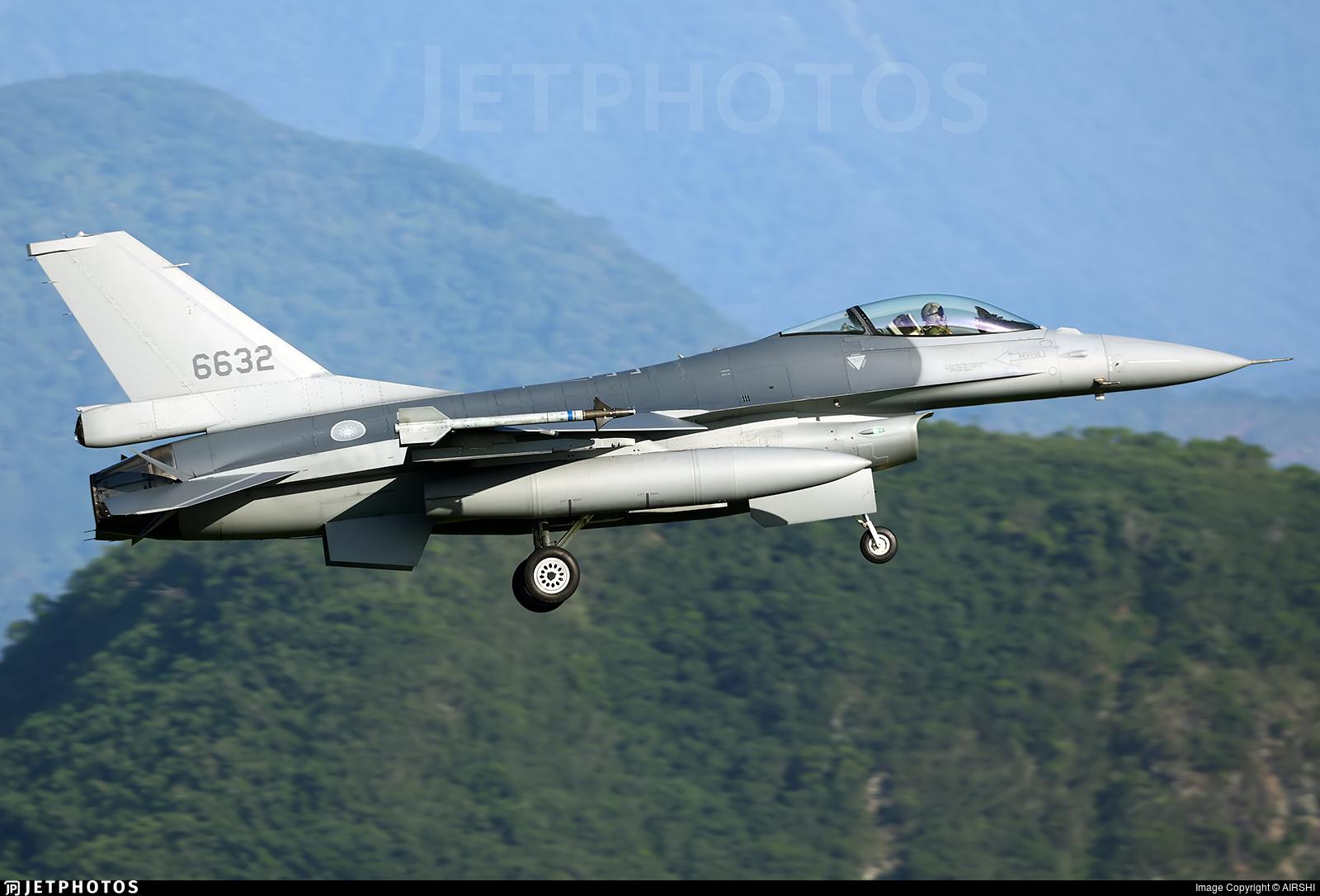 6632 - General Dynamics F-16AM Fighting Falcon - Taiwan - Air Force