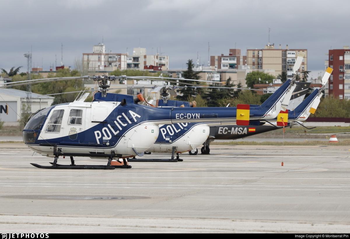 EC-DYN - MBB Bo105 - Spain - National Police