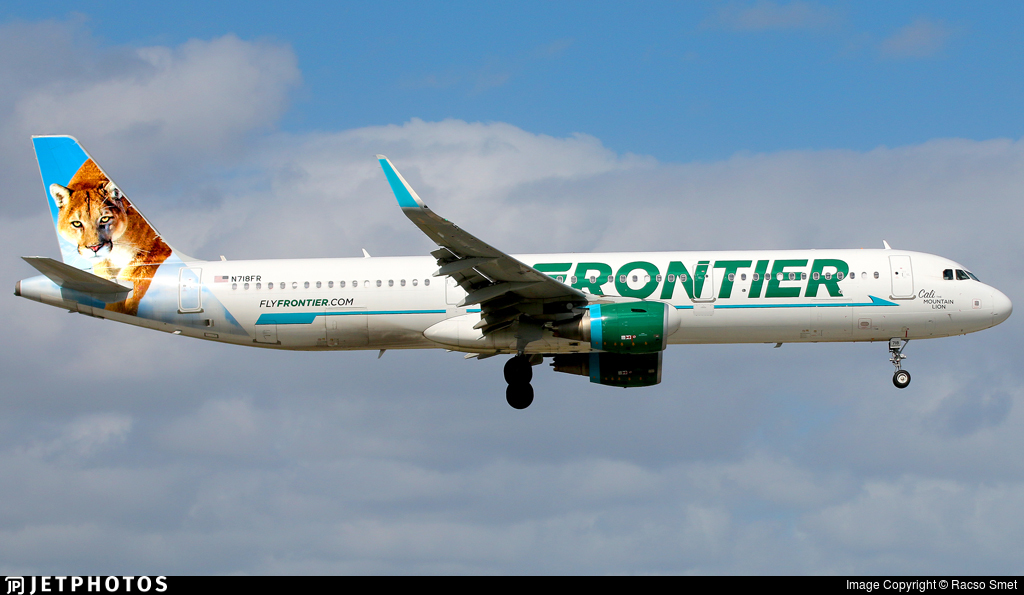 N718FR - Airbus A321-211 - Frontier Airlines