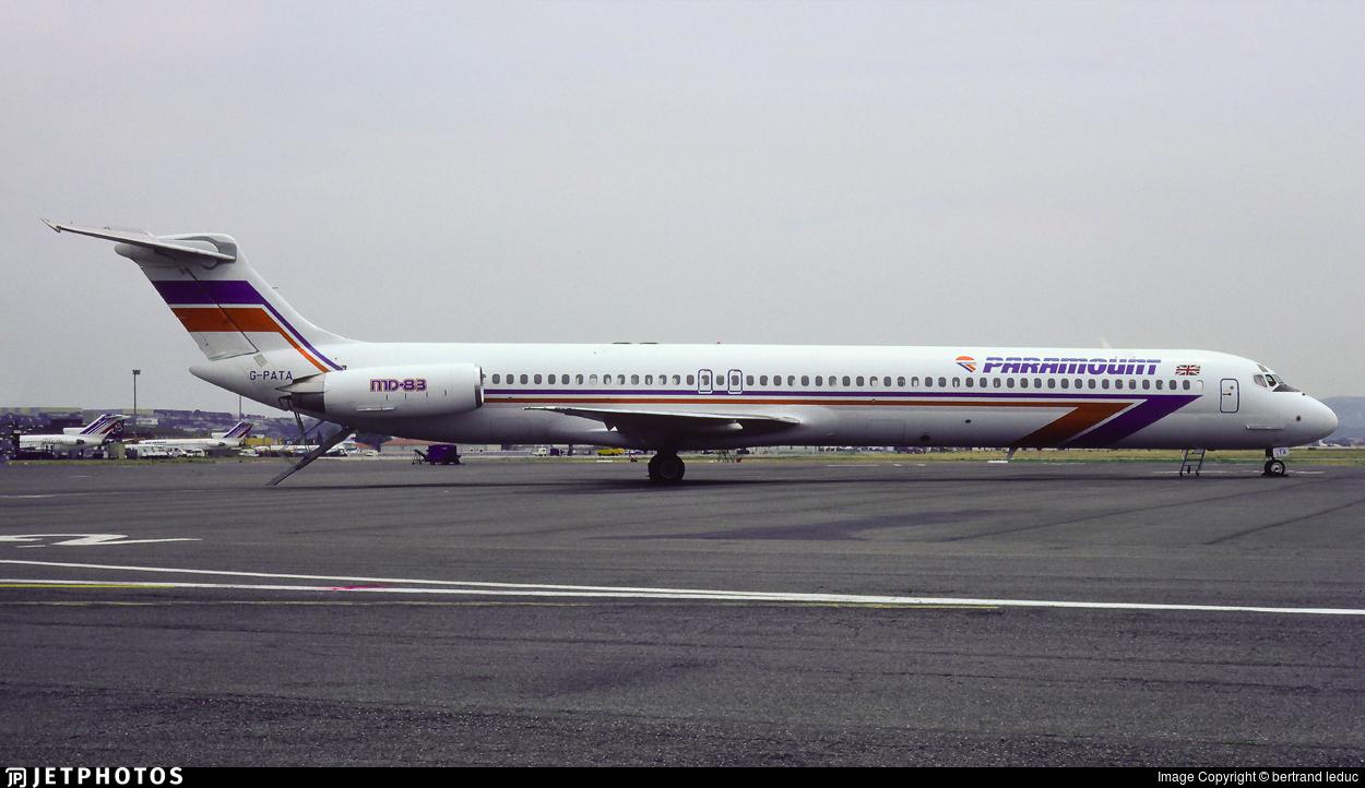 G-PATA - McDonnell Douglas MD-83 - Paramount Airways