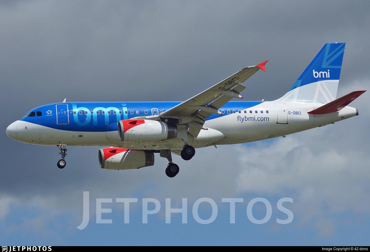 G-DBCI - Airbus A319-131 - bmi British Midland International