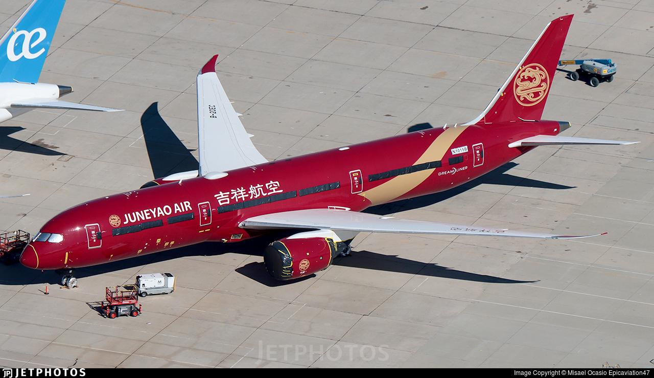 N1015B - Boeing 787-9 Dreamliner - Juneyao Airlines