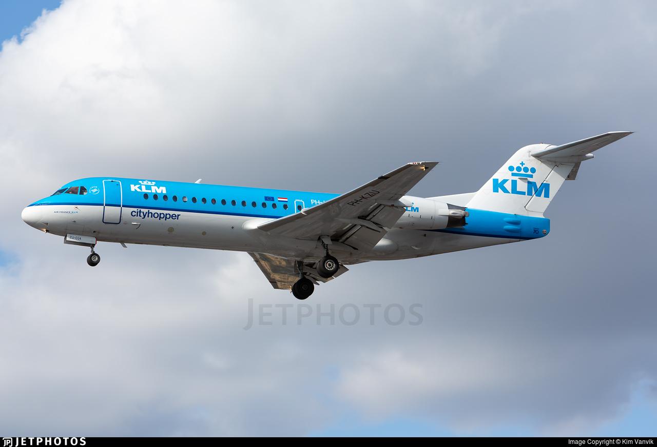 PH-KZU - Fokker 70 - KLM Cityhopper