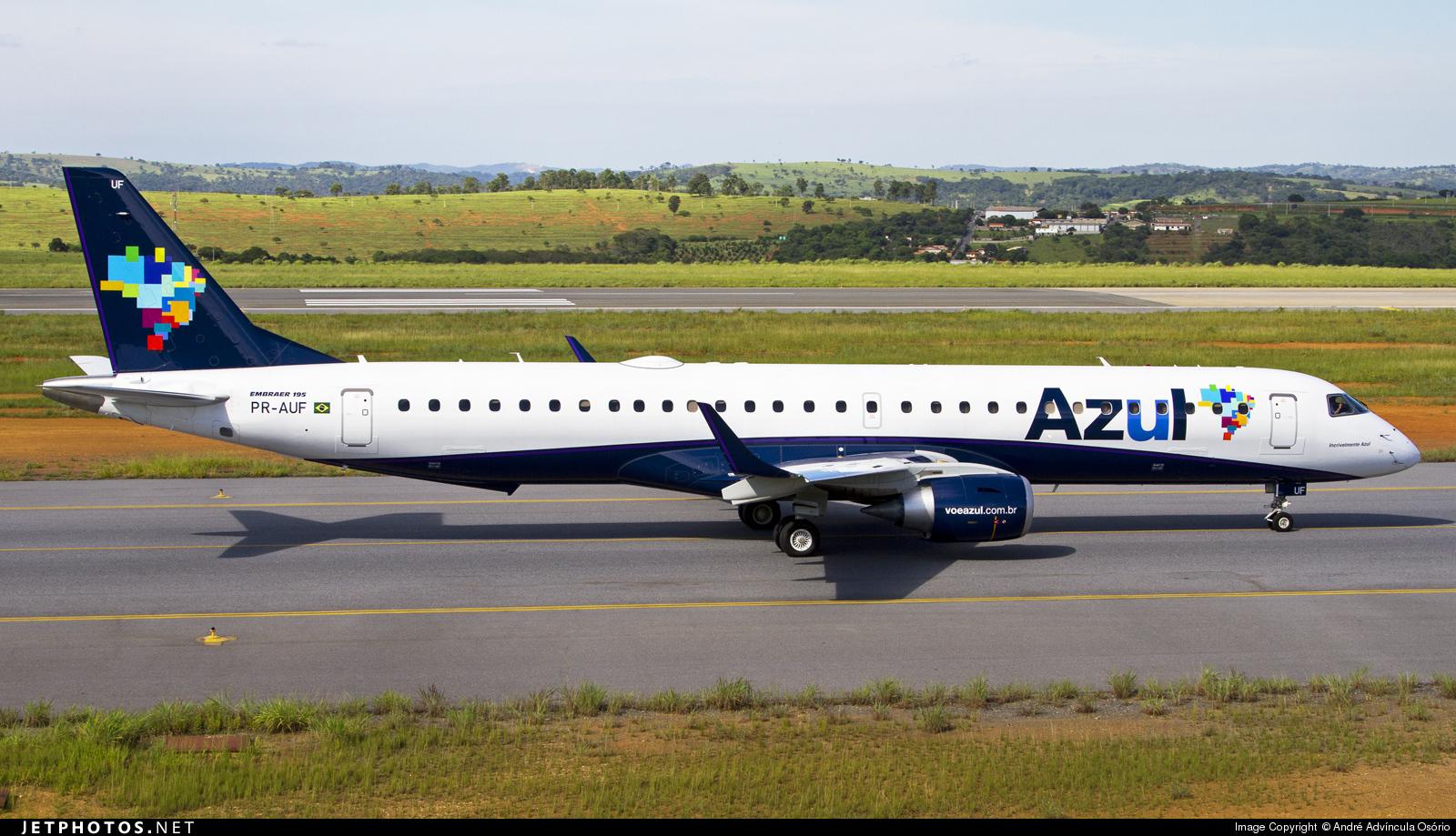 PR-AUF - Embraer 190-200IGW - Azul Linhas Aéreas Brasileiras