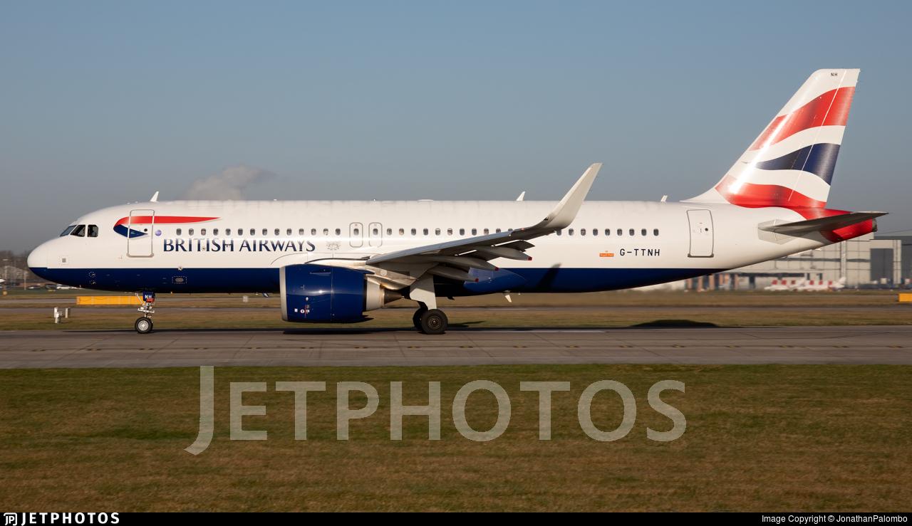 G-TTNH - Airbus A320-251N - British Airways